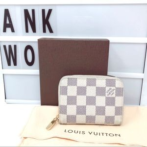 Louis Vuitton zippy Damier Azur coin card wallet